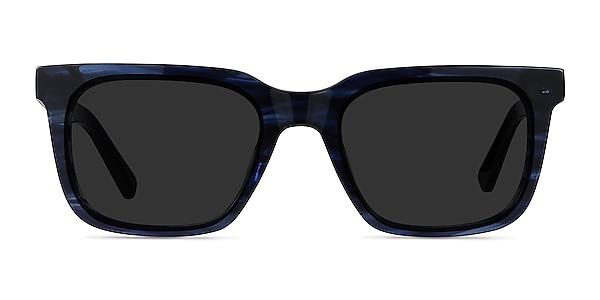 Riddle Blue Striped Acetate Sunglass Frames