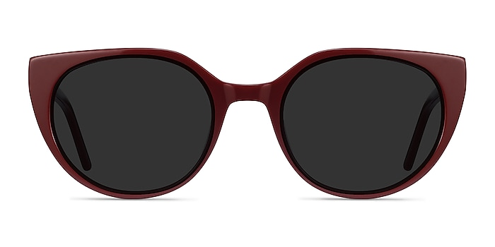 Sun Rhyme Burgundy Acetate Sunglass Frames from EyeBuyDirect