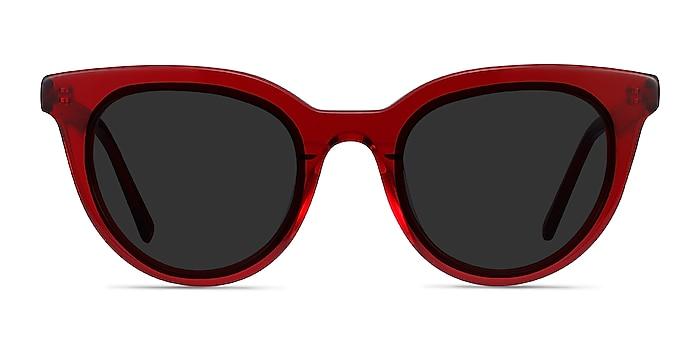 Cherish Rouge Acétate Soleil de Lunette de vue d'EyeBuyDirect