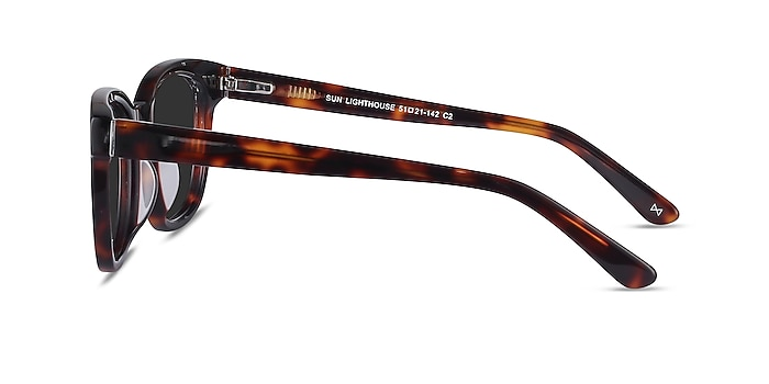 Sun Lighthouse Tortoise Acetate Sunglass Frames from EyeBuyDirect