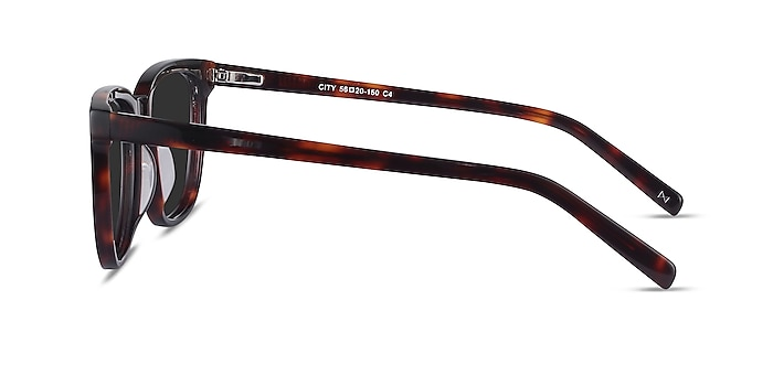City Tortoise Acetate Sunglass Frames from EyeBuyDirect