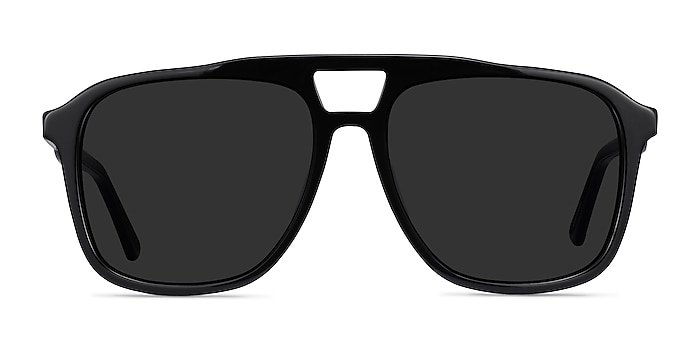 Aster Black Acetate Sunglass Frames from EyeBuyDirect