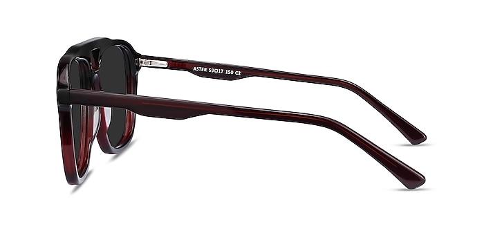 Aster Dark Burgundy Acetate Sunglass Frames from EyeBuyDirect