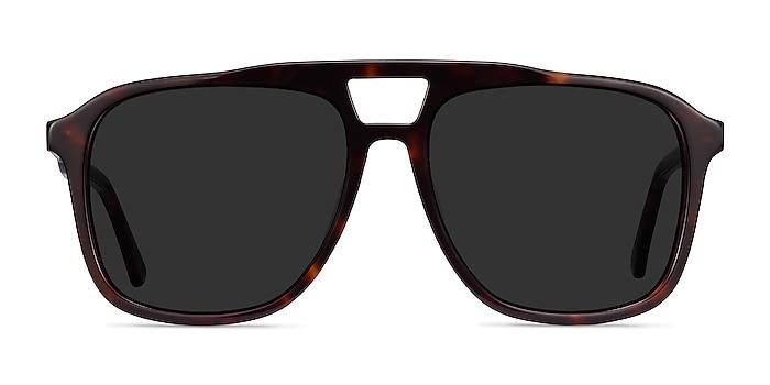 Aster Écaille Noire Acétate Soleil de Lunette de vue d'EyeBuyDirect