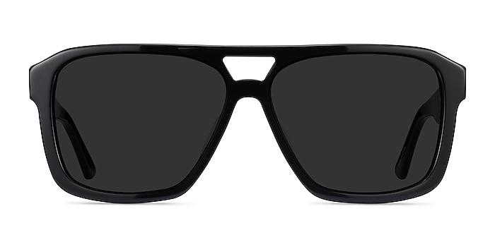 Bauhaus Black Acetate Sunglass Frames from EyeBuyDirect