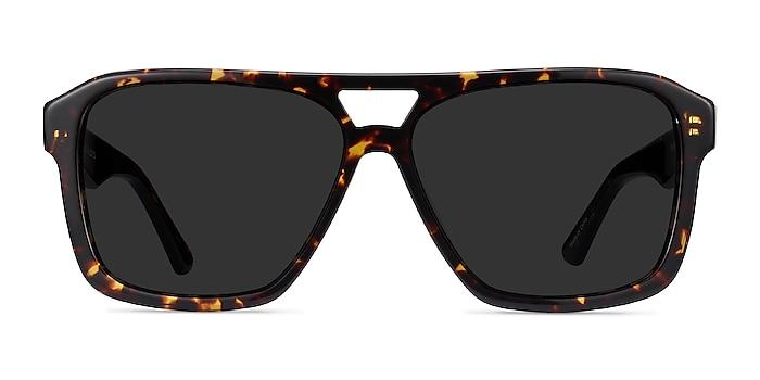 Bauhaus Dark Tortoise Acetate Sunglass Frames from EyeBuyDirect