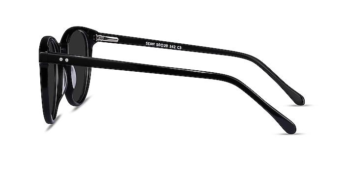 Seah Black Acetate Sunglass Frames from EyeBuyDirect