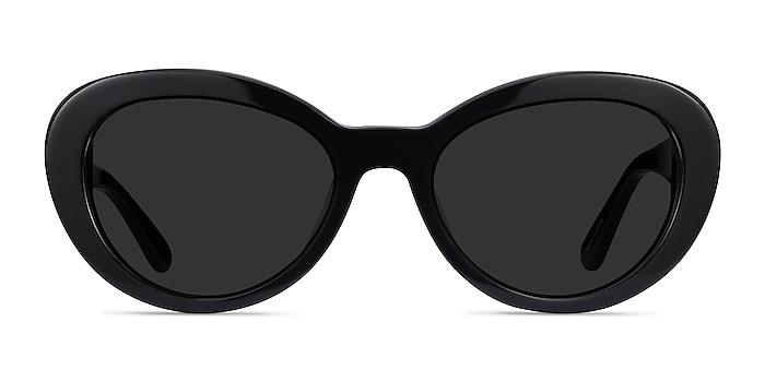 Elle Black Acetate Sunglass Frames from EyeBuyDirect