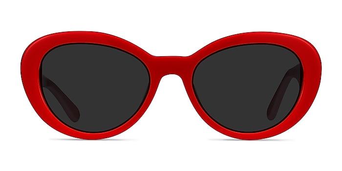 Elle Red & Pink Acétate Soleil de Lunette de vue d'EyeBuyDirect