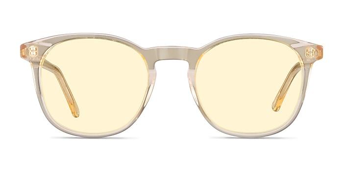 Safari Clear Melon Acetate Sunglass Frames from EyeBuyDirect