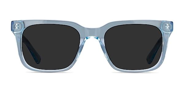 Riddle Clear Blue Acetate Sunglass Frames