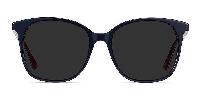 Celebration Navy & Red Acetate Sunglass Frames from EyeBuyDirect