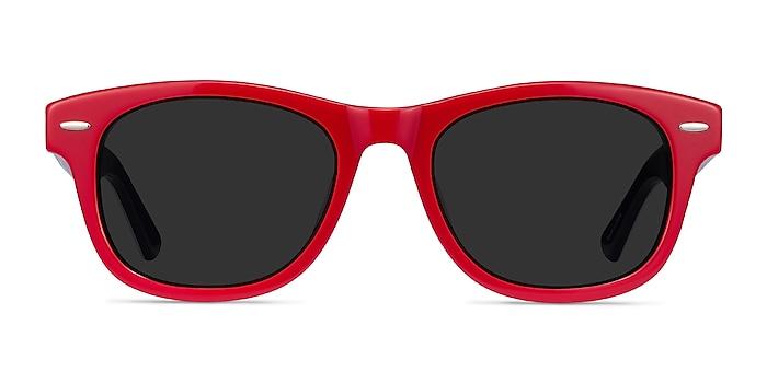 Parade Red & Navy Acétate Soleil de Lunette de vue d'EyeBuyDirect