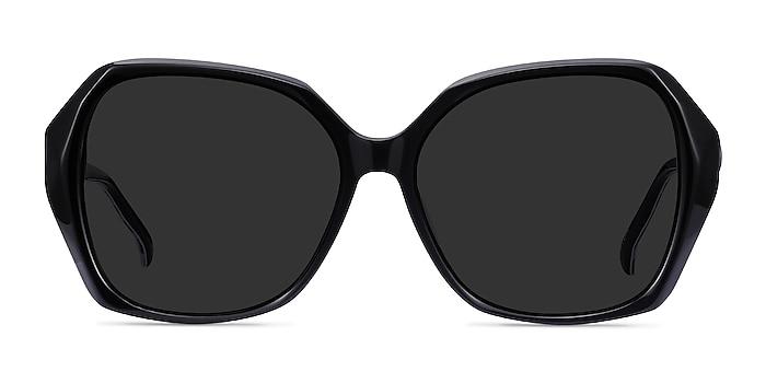Isabella Black Acetate Sunglass Frames from EyeBuyDirect