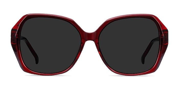 Isabella Burgundy Acetate Sunglass Frames from EyeBuyDirect