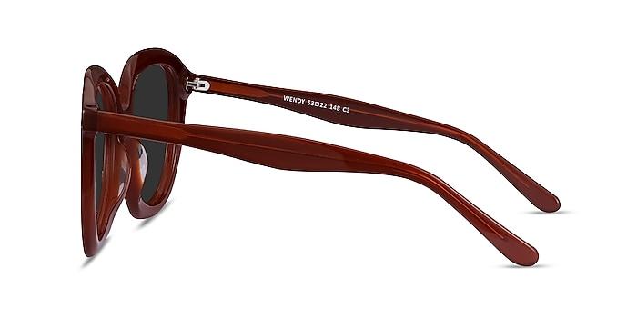 Wendy Burgundy Acetate Sunglass Frames from EyeBuyDirect