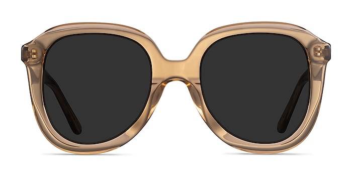 Wendy Clear Brown Acetate Sunglass Frames from EyeBuyDirect