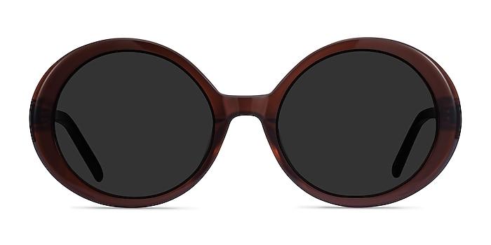 Tina Coffee Acetate Sunglass Frames from EyeBuyDirect