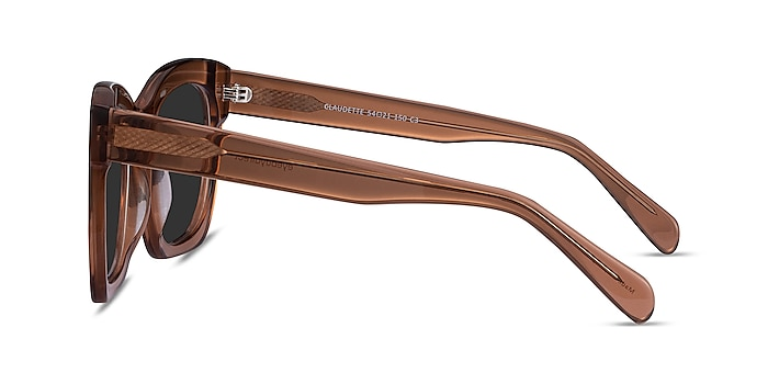 Claudette Clear Brown Acetate Sunglass Frames from EyeBuyDirect