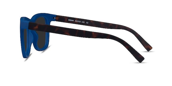 Ocean Atlantic Blue & Warm Tortoise Plastic Sunglass Frames from EyeBuyDirect