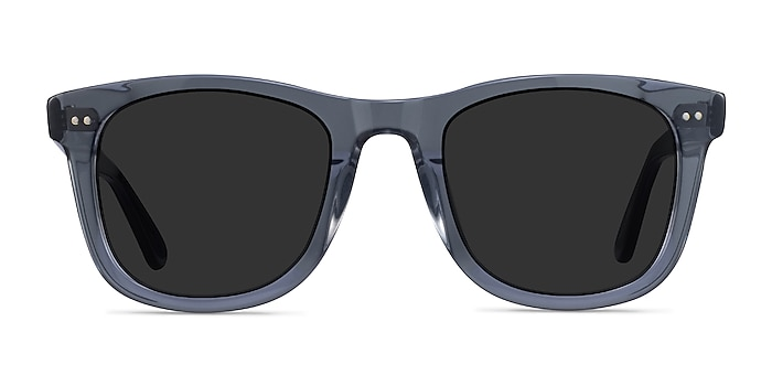 Nevada Clear Gray Acetate Sunglass Frames from EyeBuyDirect