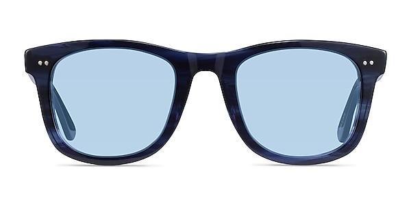 Nevada Blue Striped Acetate Sunglass Frames