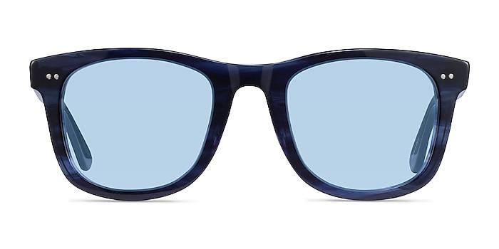 Nevada Blue Striped Acétate Soleil de Lunette de vue d'EyeBuyDirect