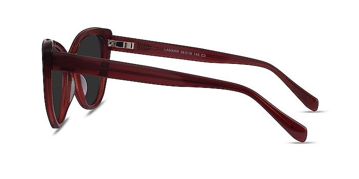 Lamarr Clear Red Acétate Soleil de Lunette de vue d'EyeBuyDirect