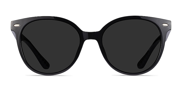 Domino Black Plastic Sunglass Frames from EyeBuyDirect