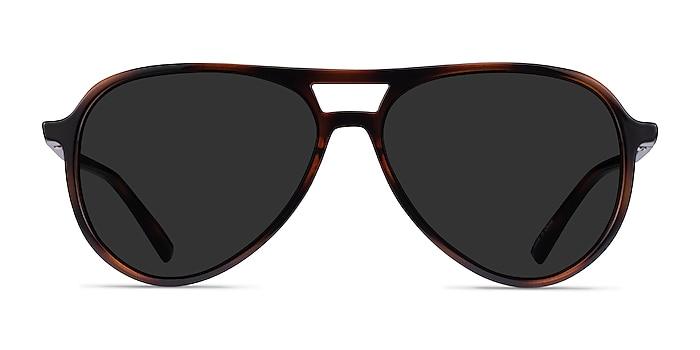 Volcano Tortoise Plastic Sunglass Frames from EyeBuyDirect