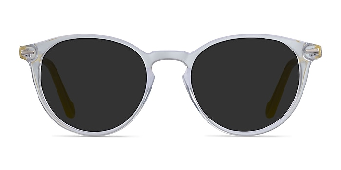 Origami Clear Yellow Acetate Sunglass Frames from EyeBuyDirect