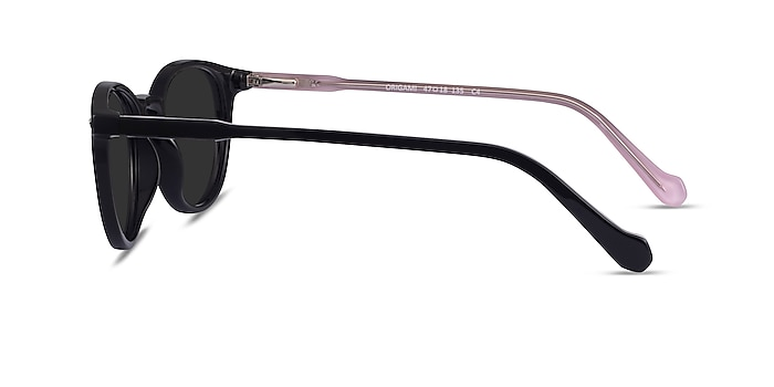 Origami Black Pink Acetate Sunglass Frames from EyeBuyDirect