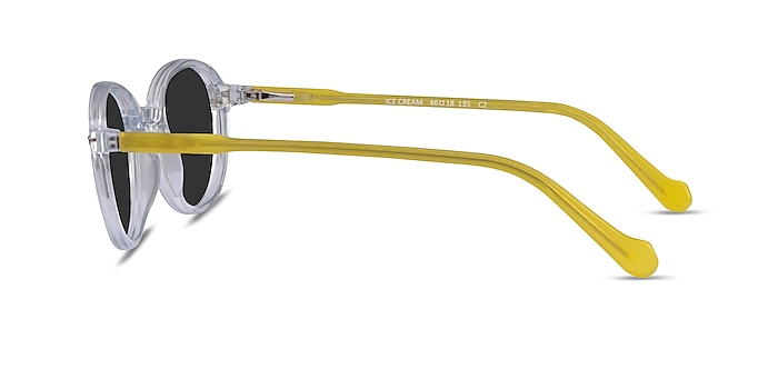 Ice Cream Clear Yellow Acetate Sunglass Frames from EyeBuyDirect