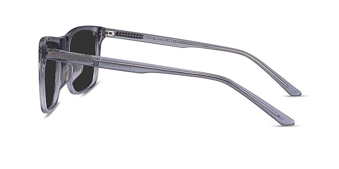 Silvio Clear Gray Acetate Sunglass Frames from EyeBuyDirect