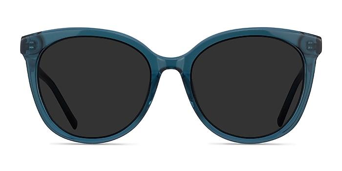 Cinematic Clear Teal Acétate Soleil de Lunette de vue d'EyeBuyDirect