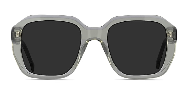 Azalea Clear Green Acetate Sunglass Frames