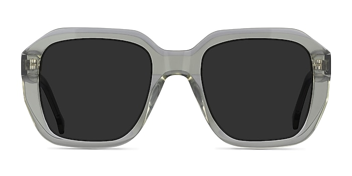 Azalea Clear Green Acetate Sunglass Frames from EyeBuyDirect