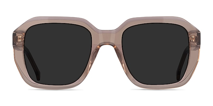 Azalea Clear Brown Acetate Sunglass Frames from EyeBuyDirect