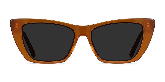 Milla Marron Acétate Soleil de Lunette de vue d'EyeBuyDirect