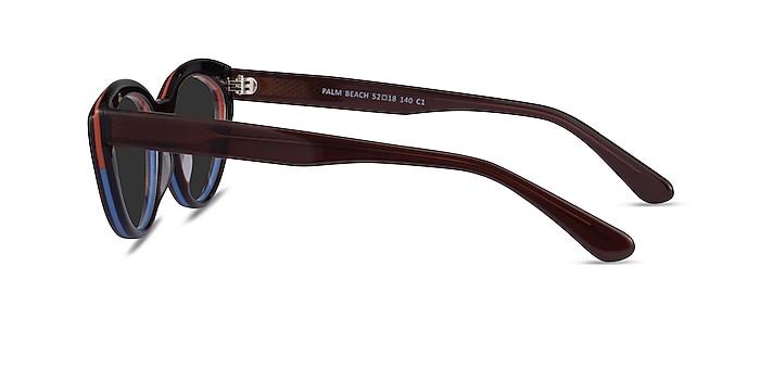 Palm Beach Red Tortoise Blue Acetate Sunglass Frames from EyeBuyDirect