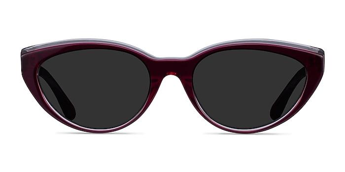 Palm Beach Clear Burgundy Acetate Sunglass Frames from EyeBuyDirect