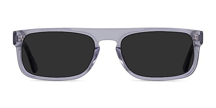 Grayton Clear Gray Acétate Soleil de Lunette de vue d'EyeBuyDirect