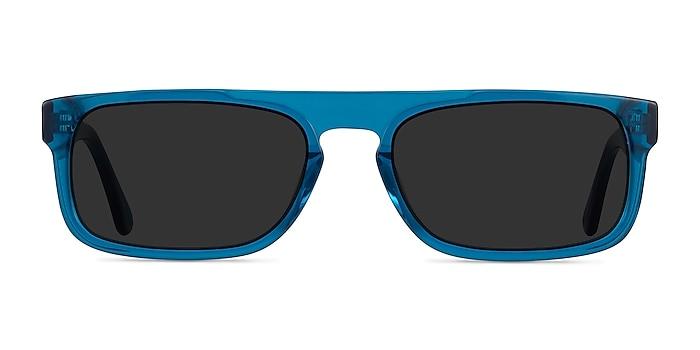 Grayton Clear Blue Acétate Soleil de Lunette de vue d'EyeBuyDirect
