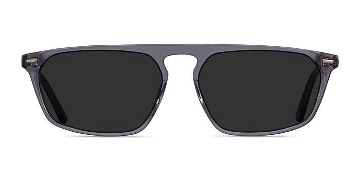 Hernando Clear Gray Acétate Soleil de Lunette de vue d'EyeBuyDirect