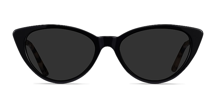 Jolie Black Acetate Sunglass Frames from EyeBuyDirect