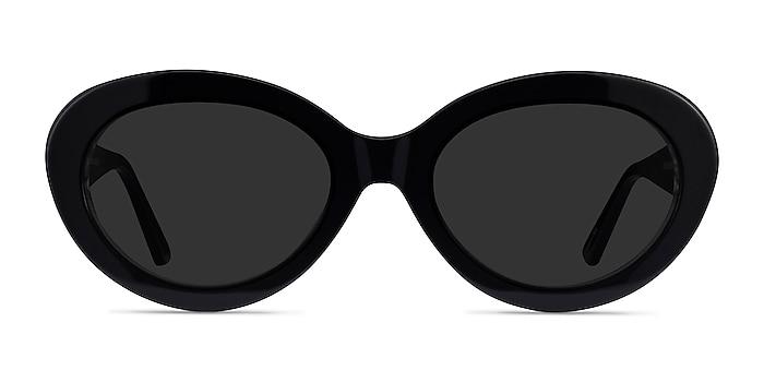 Alexandra Black Zebra Acetate Sunglass Frames from EyeBuyDirect