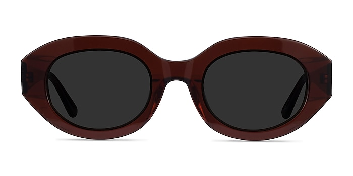 Swan Clear Brown Acetate Sunglass Frames from EyeBuyDirect