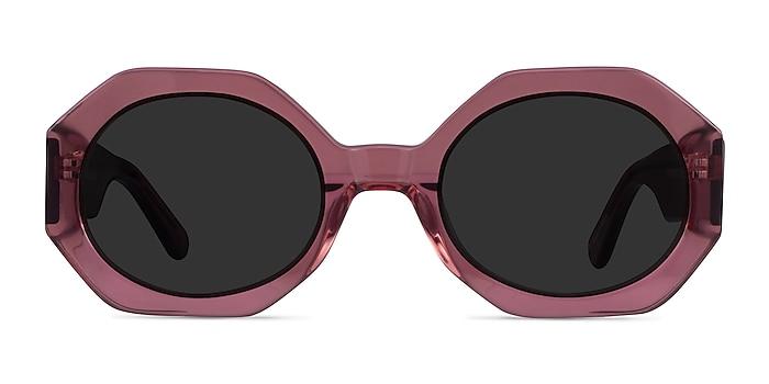 Vitamin Clear Purple Acétate Soleil de Lunette de vue d'EyeBuyDirect