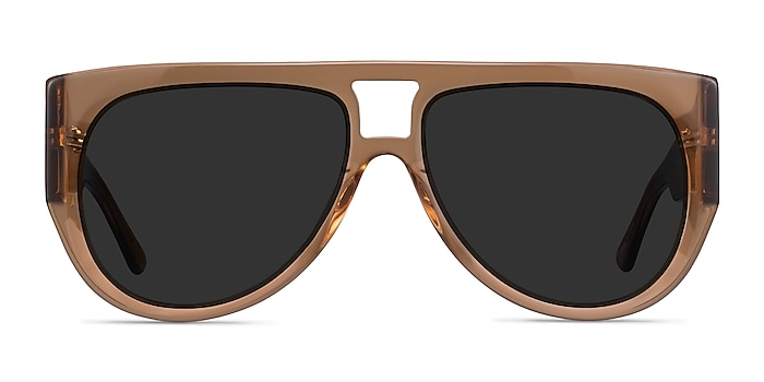 Southwest Clear Brown Acetate Sunglass Frames from EyeBuyDirect