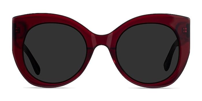 June Burgundy Acetate Sunglass Frames from EyeBuyDirect